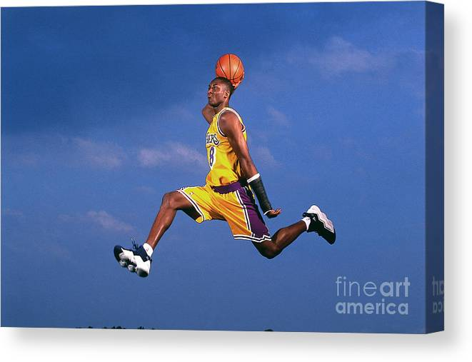 Event Canvas Print featuring the photograph Kobe Bryant by Walter Iooss Jr.