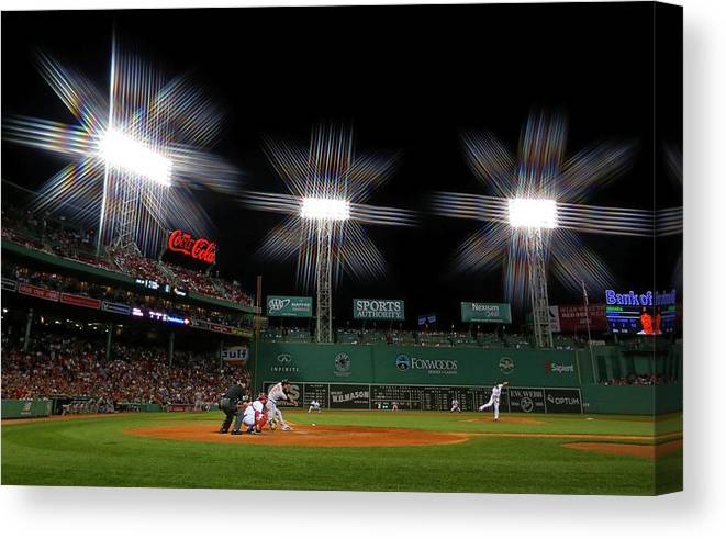 Ninth Inning Canvas Print featuring the photograph Koji Uehara by Winslow Townson