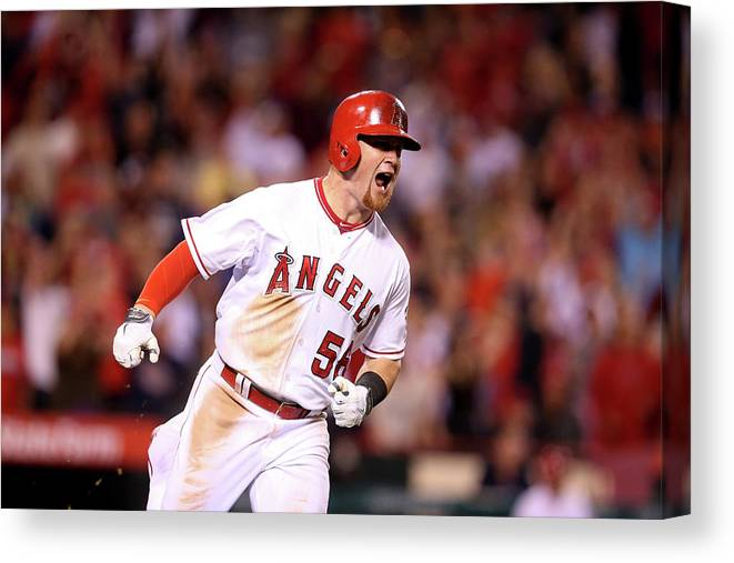 Three Quarter Length Canvas Print featuring the photograph Kole Calhoun by Stephen Dunn