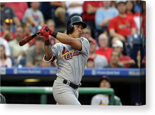 St. Louis Cardinals Canvas Print featuring the photograph Kolten Wong by Hunter Martin