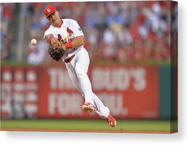 St. Louis Cardinals Canvas Print featuring the photograph Kolten Wong by Michael Thomas