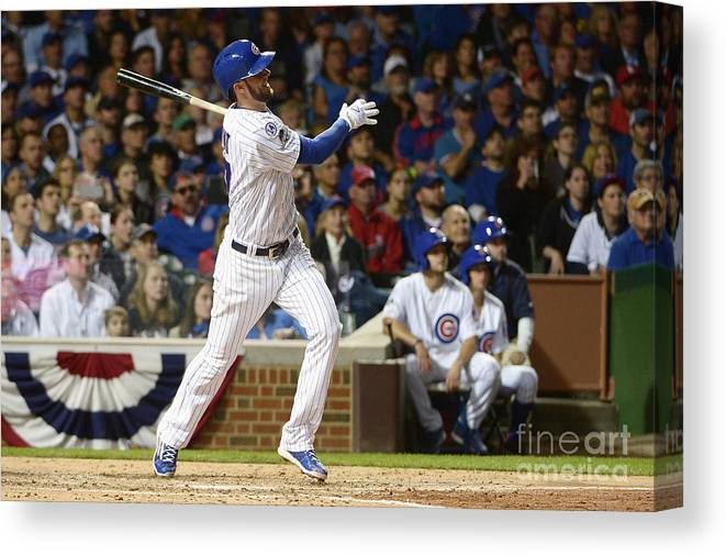 People Canvas Print featuring the photograph Kris Bryant by David Banks
