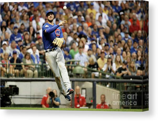 People Canvas Print featuring the photograph Kris Bryant by Stacy Revere