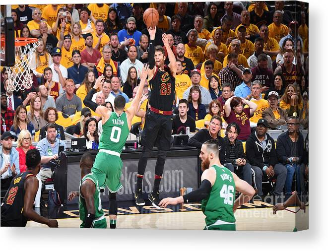 Playoffs Canvas Print featuring the photograph Kyle Korver by Brian Babineau