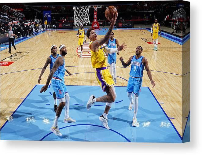 Nba Pro Basketball Canvas Print featuring the photograph Kyle Kuzma by Cato Cataldo