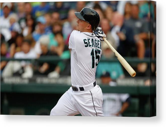 Second Inning Canvas Print featuring the photograph Kyle Seager by Otto Greule Jr