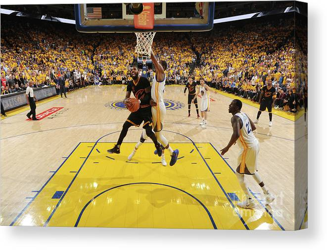 Playoffs Canvas Print featuring the photograph Kyrie Irving by Andrew D. Bernstein