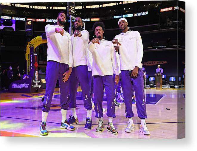 Playoffs Canvas Print featuring the photograph LA Clippers v Los Angeles Lakers by Andrew D. Bernstein