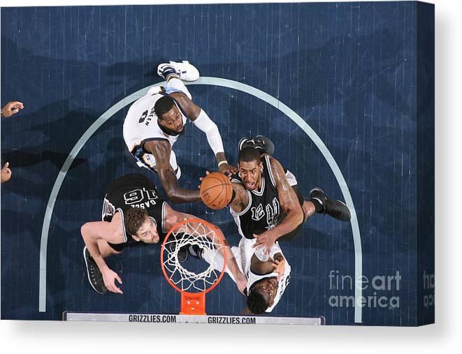 Playoffs Canvas Print featuring the photograph Lamarcus Aldridge by Joe Murphy