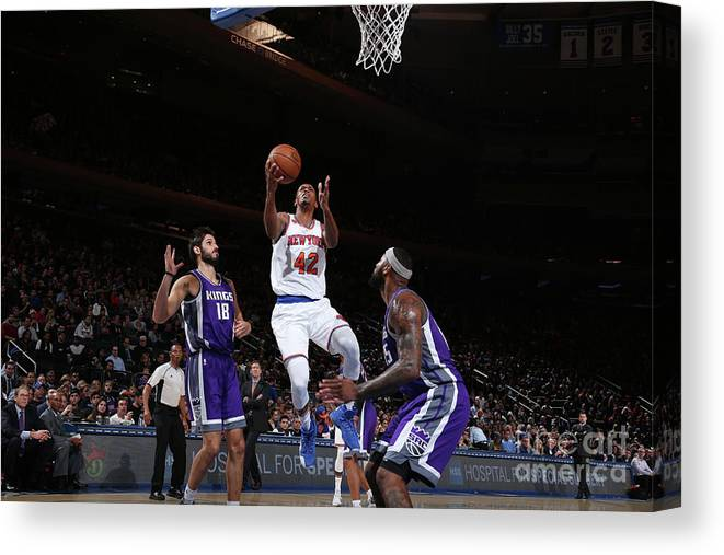 Nba Pro Basketball Canvas Print featuring the photograph Lance Thomas by Nathaniel S. Butler