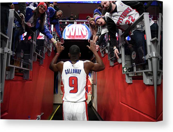 Nba Pro Basketball Canvas Print featuring the photograph Langston Galloway by Chris Schwegler