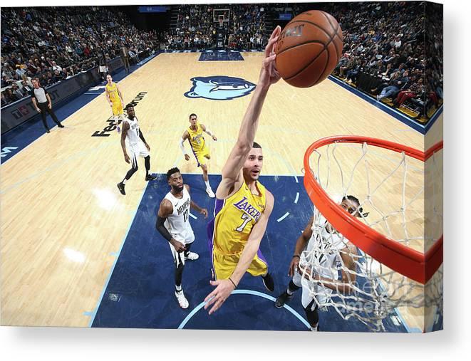 Nba Pro Basketball Canvas Print featuring the photograph Larry Nance by Joe Murphy