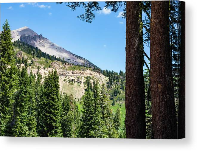 Mountain Canvas Print featuring the photograph Lassen Highway by John Heywood