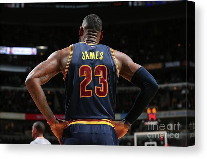 Nba Pro Basketball Canvas Print featuring the photograph Lebron James by David Sherman