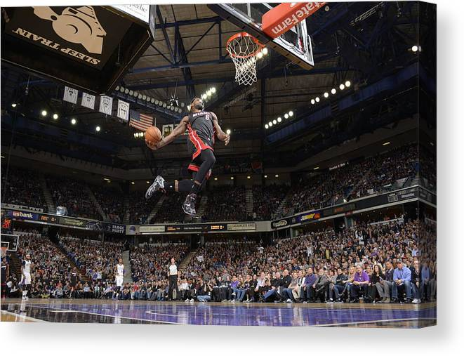 Nba Pro Basketball Canvas Print featuring the photograph Lebron James by Rocky Widner