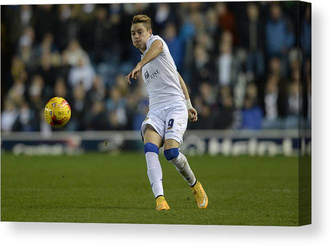 England Canvas Print featuring the photograph Leeds United v Charlton Athletic - Sky Bet Championship by Gareth Copley