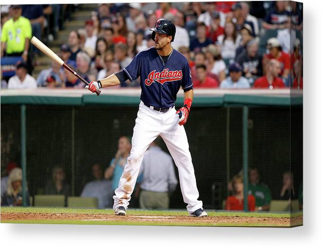American League Baseball Canvas Print featuring the photograph Lonnie Chisenhall by David Maxwell