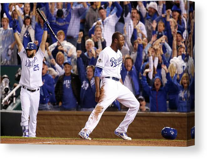 People Canvas Print featuring the photograph Lorenzo Cain by Rob Carr