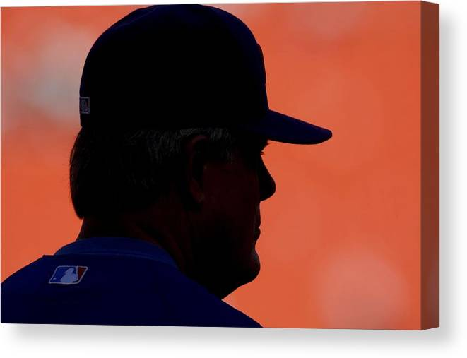 Hard Rock Stadium Canvas Print featuring the photograph Lou Piniella by Ronald C. Modra/sports Imagery