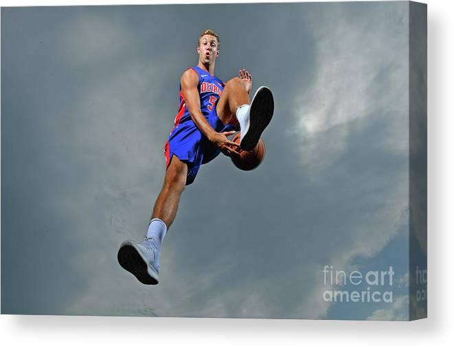 Nba Pro Basketball Canvas Print featuring the photograph Luke Kennard by Jesse D. Garrabrant