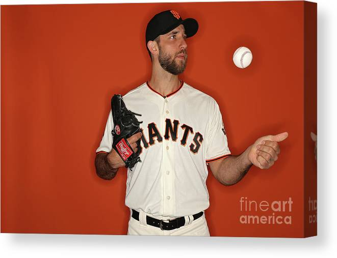Media Day Canvas Print featuring the photograph Madison Bumgarner by Patrick Smith