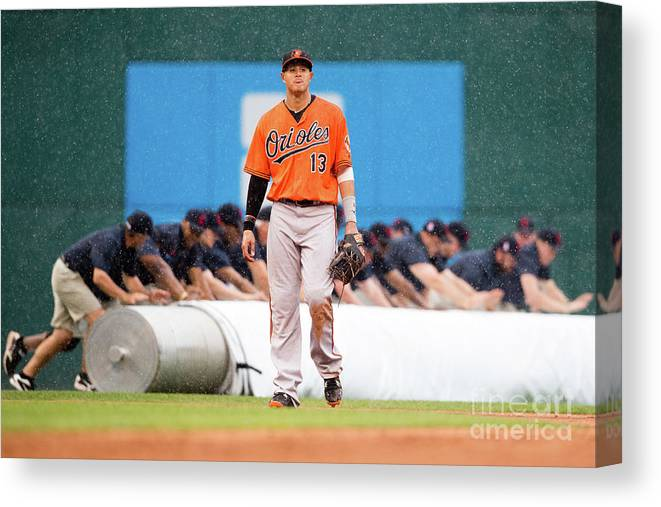 People Canvas Print featuring the photograph Manny Machado by Jason Miller