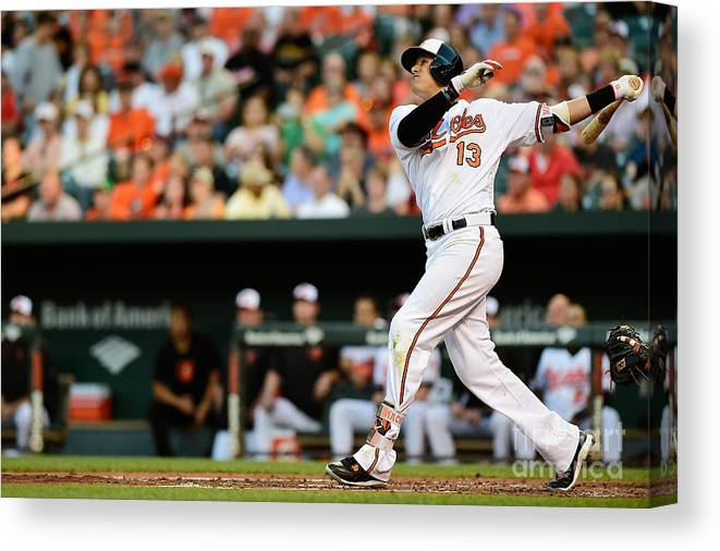 Second Inning Canvas Print featuring the photograph Manny Machado by Patrick Mcdermott