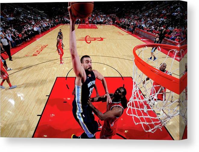 Nba Pro Basketball Canvas Print featuring the photograph Marc Gasol by Bill Baptist