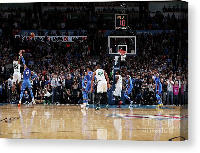 Nba Pro Basketball Canvas Print featuring the photograph Marcus Morris by Zach Beeker