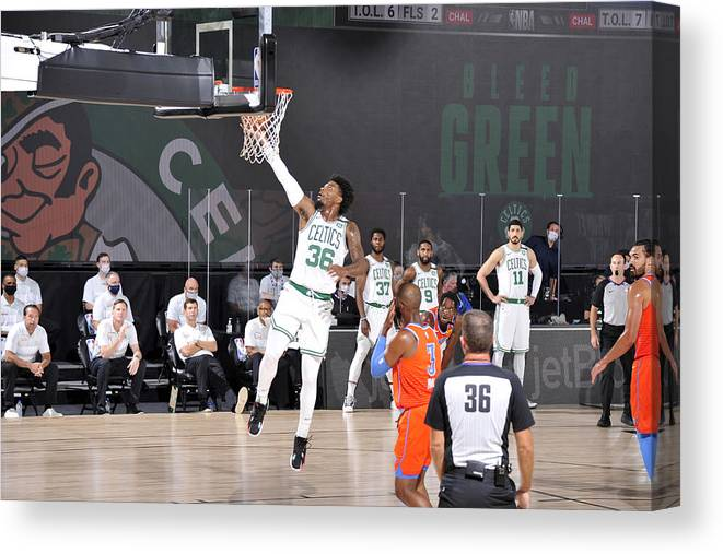 Nba Pro Basketball Canvas Print featuring the photograph Marcus Smart by David Sherman