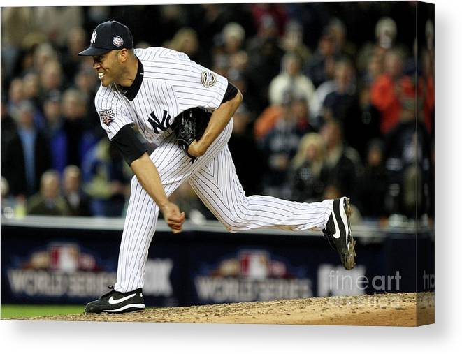 American League Baseball Canvas Print featuring the photograph Mariano Rivera by Jed Jacobsohn