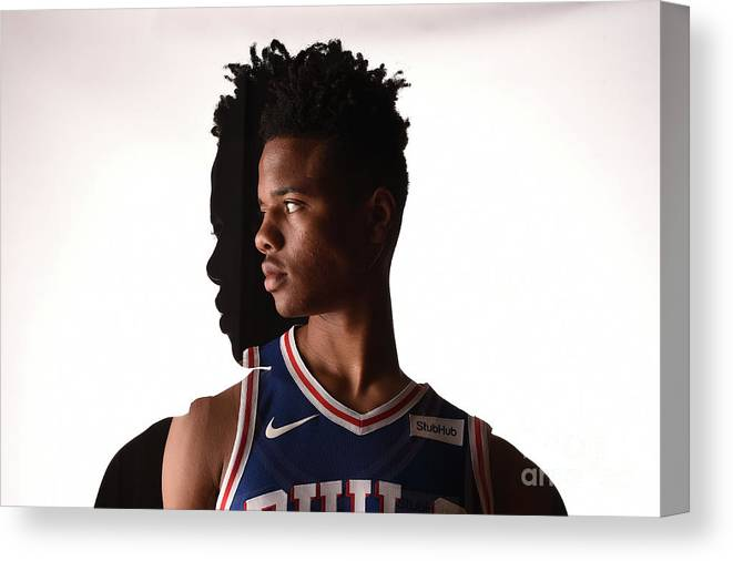 Nba Pro Basketball Canvas Print featuring the photograph Markelle Fultz by Brian Babineau