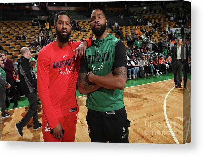 Nba Pro Basketball Canvas Print featuring the photograph Markieff Morris and Marcus Morris by Ned Dishman