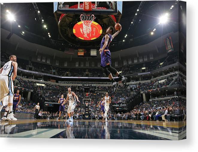 Nba Pro Basketball Canvas Print featuring the photograph Marquese Chriss by Joe Murphy