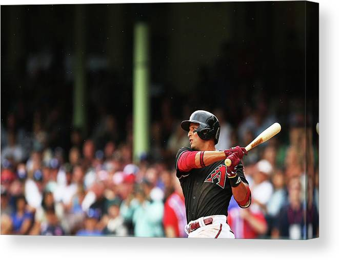 Australia Canvas Print featuring the photograph Martin Prado by Brendon Thorne