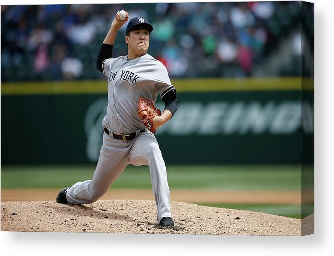 Second Inning Canvas Print featuring the photograph Masahiro Tanaka by Otto Greule Jr