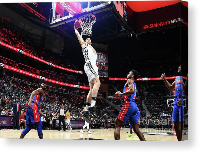Atlanta Canvas Print featuring the photograph Mason Plumlee and Miles Plumlee by Scott Cunningham