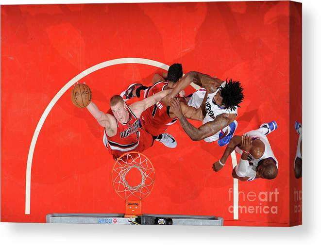 Nba Pro Basketball Canvas Print featuring the photograph Mason Plumlee by Andrew D. Bernstein