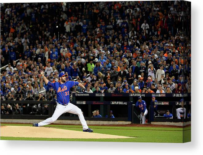 Matt Harvey Canvas Print featuring the photograph Matt Harvey by Ron Vesely