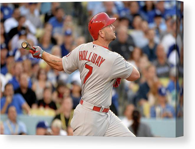 St. Louis Cardinals Canvas Print featuring the photograph Matt Holliday by Harry How