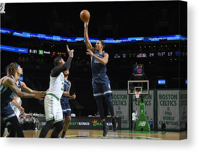 Nba Pro Basketball Canvas Print featuring the photograph Memphis Grizzlies v Boston Celtics by Brian Babineau