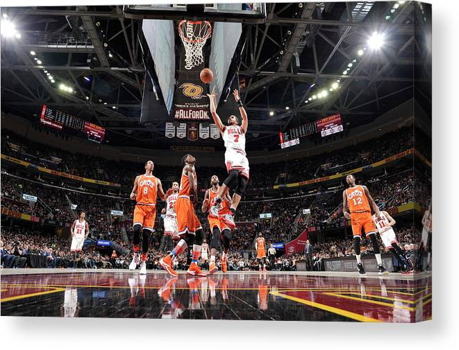 Nba Pro Basketball Canvas Print featuring the photograph Michael Carter-williams by David Liam Kyle