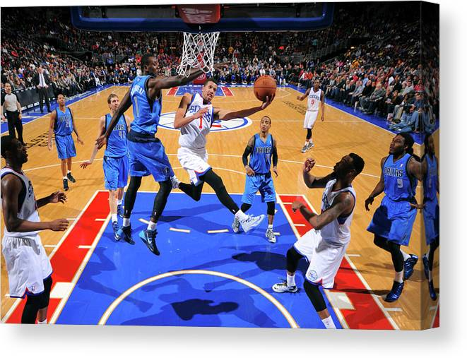 Nba Pro Basketball Canvas Print featuring the photograph Michael Carter-williams by Jesse D. Garrabrant