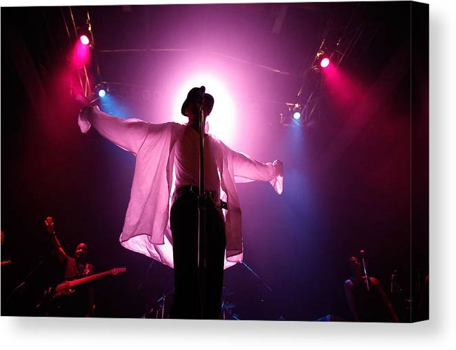 People Canvas Print featuring the photograph Michael Jackson Cover Band Plays DC 9:30 Club by Chip Somodevilla
