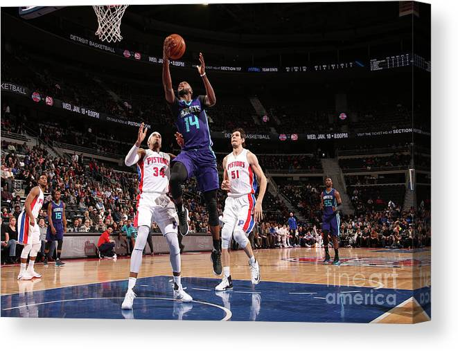 Nba Pro Basketball Canvas Print featuring the photograph Michael Kidd-gilchrist by Brian Sevald