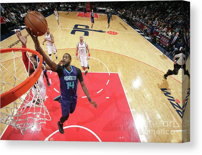 Nba Pro Basketball Canvas Print featuring the photograph Michael Kidd-gilchrist by Ned Dishman