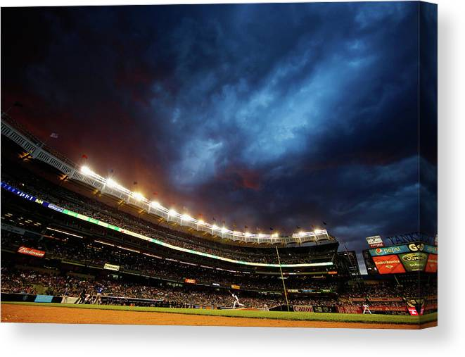 People Canvas Print featuring the photograph Michael Pineda by Al Bello