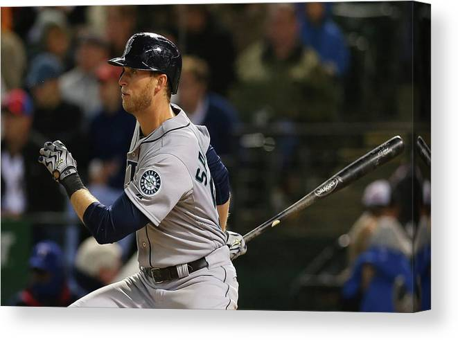 American League Baseball Canvas Print featuring the photograph Michael Saunders by Ronald Martinez