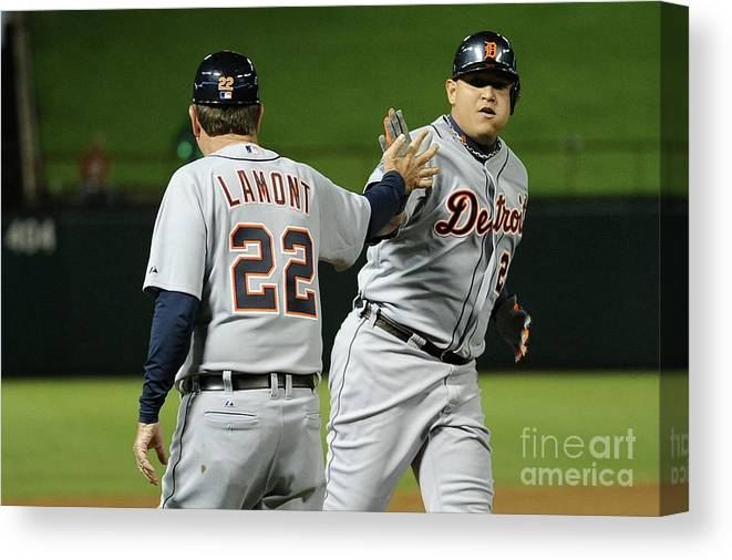 People Canvas Print featuring the photograph Miguel Cabrera by Harry How