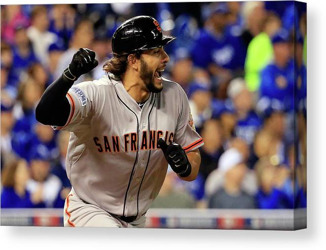 Mike Morse Canvas Print featuring the photograph Mike Morse by Rob Carr